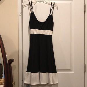 Black and White Spaghetti Dress